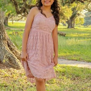 Lace Blush Pink Dress